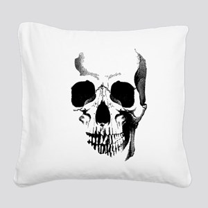 Skull Face Square Canvas Pillow