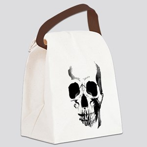 Skull Face Canvas Lunch Bag