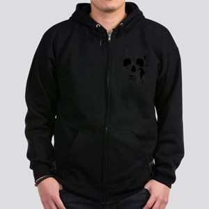Skull Face Zip Hoodie (dark)