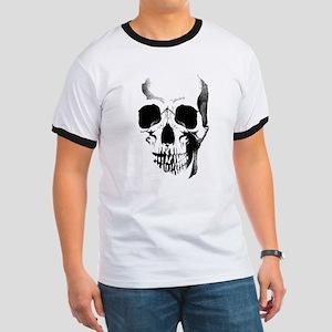 Skull Face Ringer T