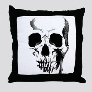 Skull Face Throw Pillow