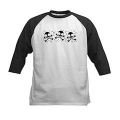 Cute Skulls And Crossbones Kids Baseball Jersey