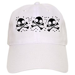 Cute Skulls And Crossbones Baseball Cap