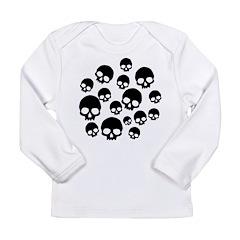 Random Skull Pattern Long Sleeve Infant T-Shirt