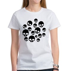 Random Skull Pattern Women's T-Shirt