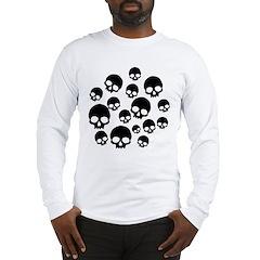 Random Skull Pattern Long Sleeve T-Shirt