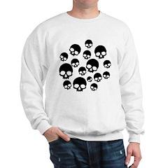 Random Skull Pattern Sweatshirt