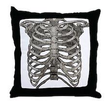 Old Ribcage Throw Pillow