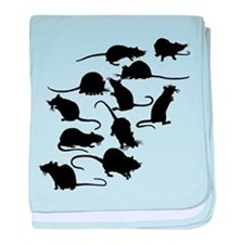 Lots Of Rats baby blanket