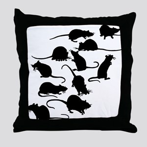 Lots Of Rats Throw Pillow