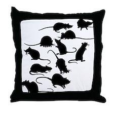 Lots Of Rats Throw Pillow