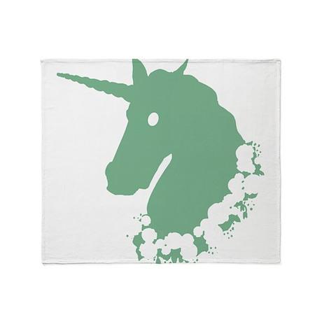 Unicorn With Skulls Throw Blanket