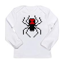 Pixel Black Widow Spider Long Sleeve Infant T-Shir