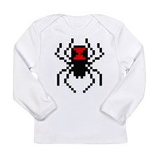 Pixel Black Widow Spider Long Sleeve Infant T-Shir