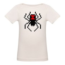 Pixel Black Widow Spider Organic Baby T-Shirt