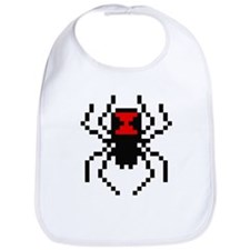 Pixel Black Widow Spider Bib
