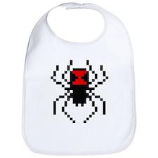 Pixel Black Widow Spider Bib
