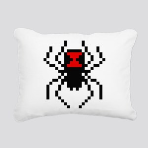 Pixel Black Widow Spider Rectangular Canvas Pillow