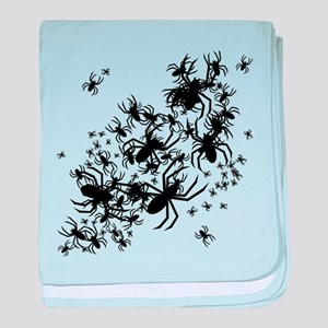 Lots Of Spiders baby blanket