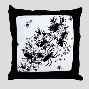 Lots Of Spiders Throw Pillow