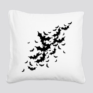 Lots Of Bats Square Canvas Pillow