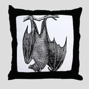 Hanging Bat Throw Pillow