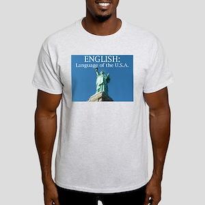 English: Language of the USA Ash Grey T-Shirt