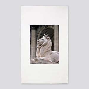 NY Public Library Lion: Fortitude 3'x5' Area Rug