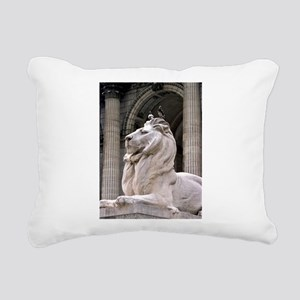NY Public Library Lion: Fortitude Rectangular Canv