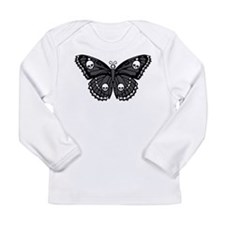 Gothic Skull Butterfly Long Sleeve Infant T-Shirt