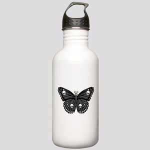 Gothic Skull Butterfly Stainless Water Bottle 1.0L