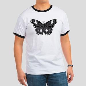 Gothic Skull Butterfly Ringer T
