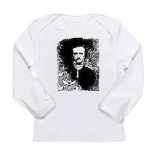 Poe On Raven Pattern Long Sleeve Infant T-Shirt