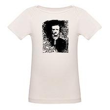 Poe On Raven Pattern Organic Baby T-Shirt