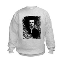 Poe On Raven Pattern Kids Sweatshirt