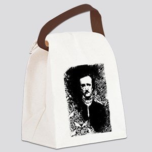Poe On Raven Pattern Canvas Lunch Bag