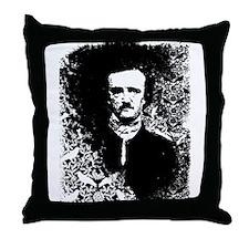 Poe On Raven Pattern Throw Pillow