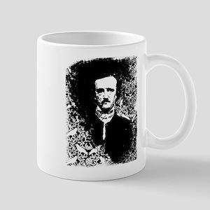 Poe On Raven Pattern Mug