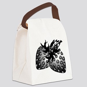 Gothic Strawberries Canvas Lunch Bag
