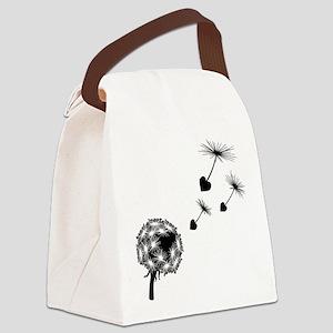 Dandelion Heart Seeds Canvas Lunch Bag