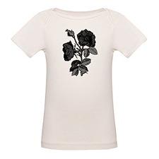 Gothic Black Roses Organic Baby T-Shirt