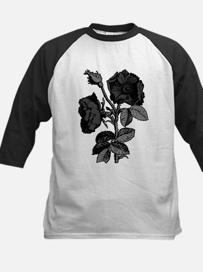 Gothic Black Roses Kids Baseball Jersey
