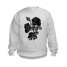 Gothic Black Roses Kids Sweatshirt