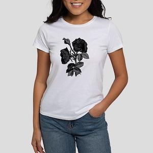 Gothic Black Roses Women's T-Shirt