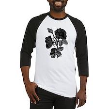 Gothic Black Roses Baseball Jersey