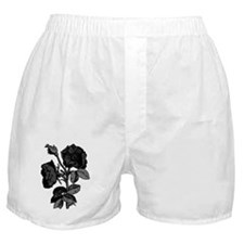 Gothic Black Roses Boxer Shorts