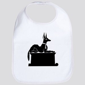 Jackal On Shrine Cotton Baby Bib