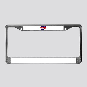 Cambodia Map Flag License Plate Frame