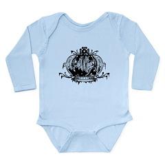 Gothic Crown Long Sleeve Infant Bodysuit