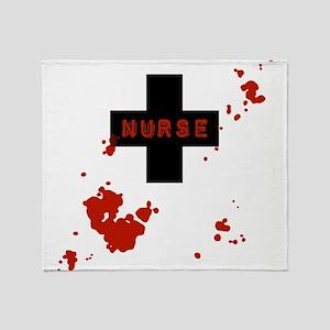 Evil Bloody Nurse Throw Blanket